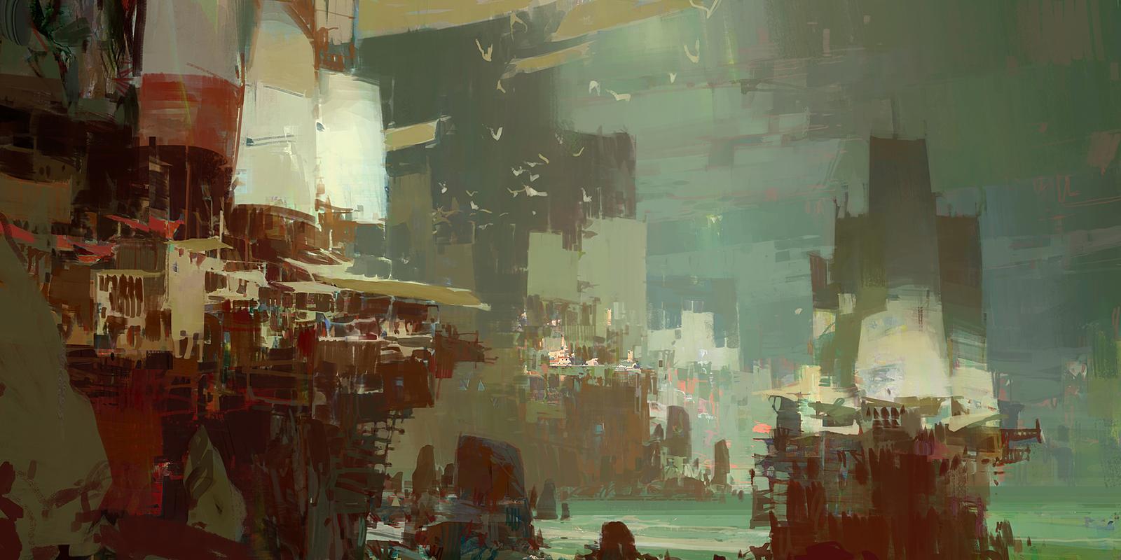 Kite City 4 - Guild Wars 2 by artbytheo