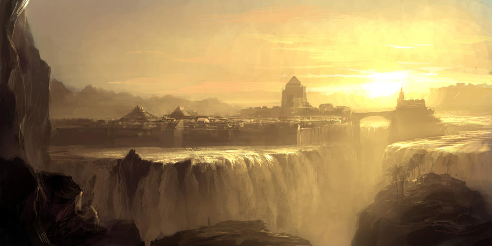 Waterfall city by artbytheo