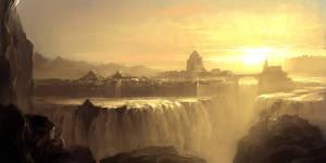 Waterfall city by artbytheo