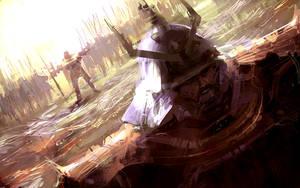Samurai dude- SPEEDPAINTING by artbytheo