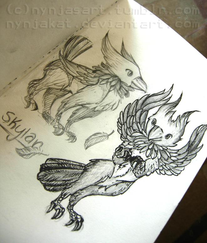 Skylar: Character Sketches by NynjaKat
