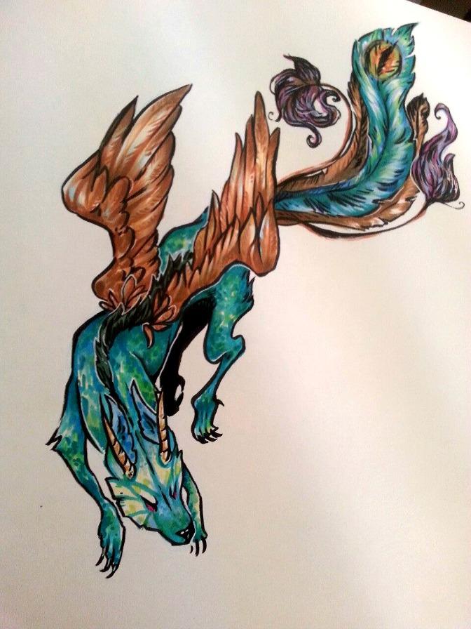 Peacock Dragon by NynjaKat