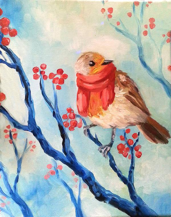 Winter Robin by NynjaKat