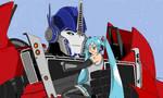 Commission: Optimus Prime and Miku