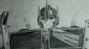 Optimus Prime Sketch by PDJ004