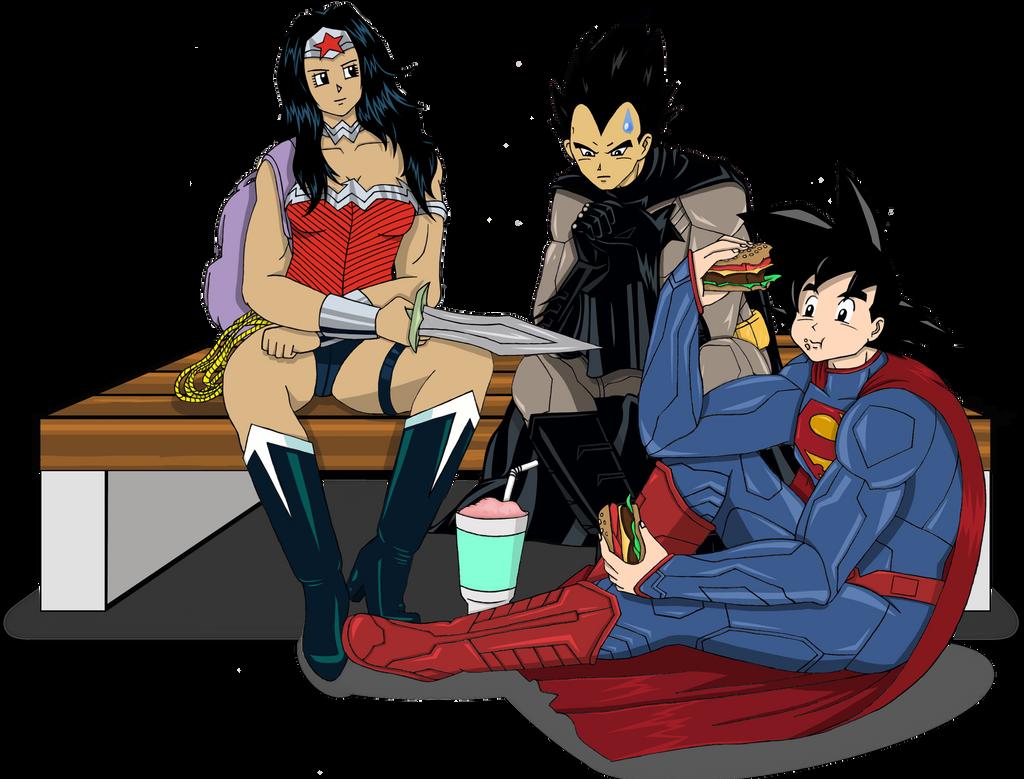 Goku/Vegeta/Ichigo as Superman/Batman/Wonder Woman by ...