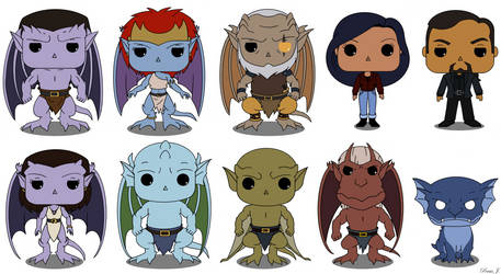 Gargoyles Pop Vinyl by PDJ004