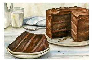 Chocolate Cake with Milk