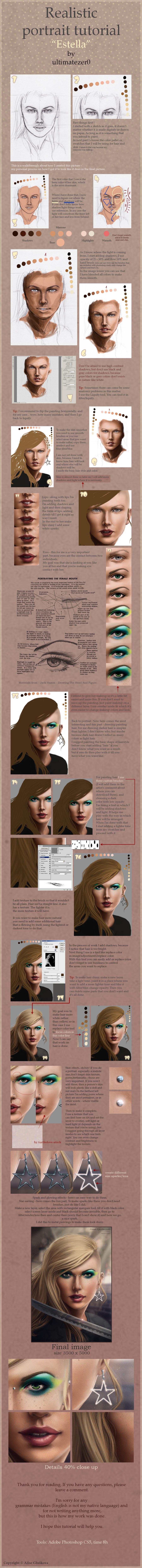 Realistic portrait tutorial by nom-nom-pancake