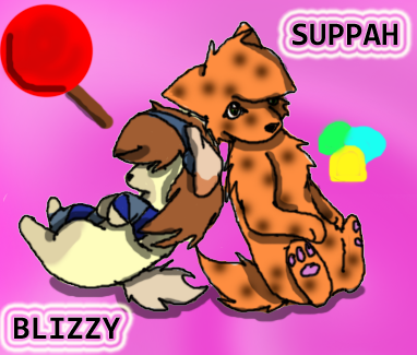 Super And Blizzy by BlizzardTheKitteh