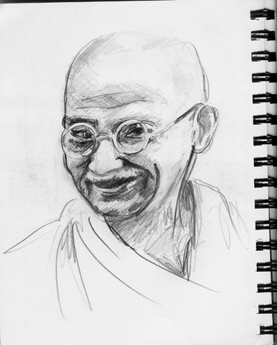 Mahatma Gandhi by AndreasPratama