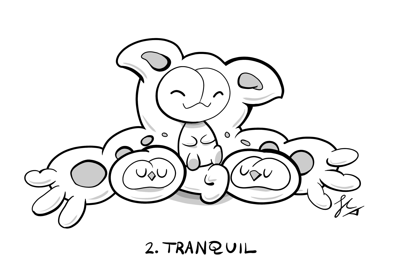 Inktober Day 2: Cuddly Reuniclus