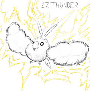 Inktober Day 27: Thunderstruck Swablu