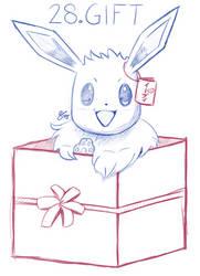Inktober Day 28: Gift-Boxed Eevee