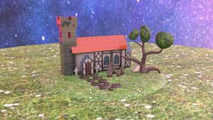 Church Model Render