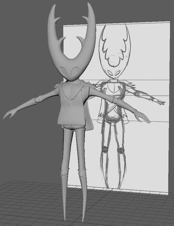Hollow Knight Character Model - In Progress