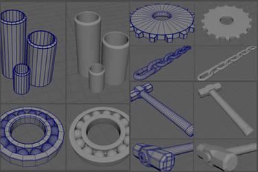 Assorted Metal Objects - In Progress