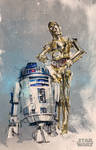 r2d2 c3po - Disney commission (Star Wars)