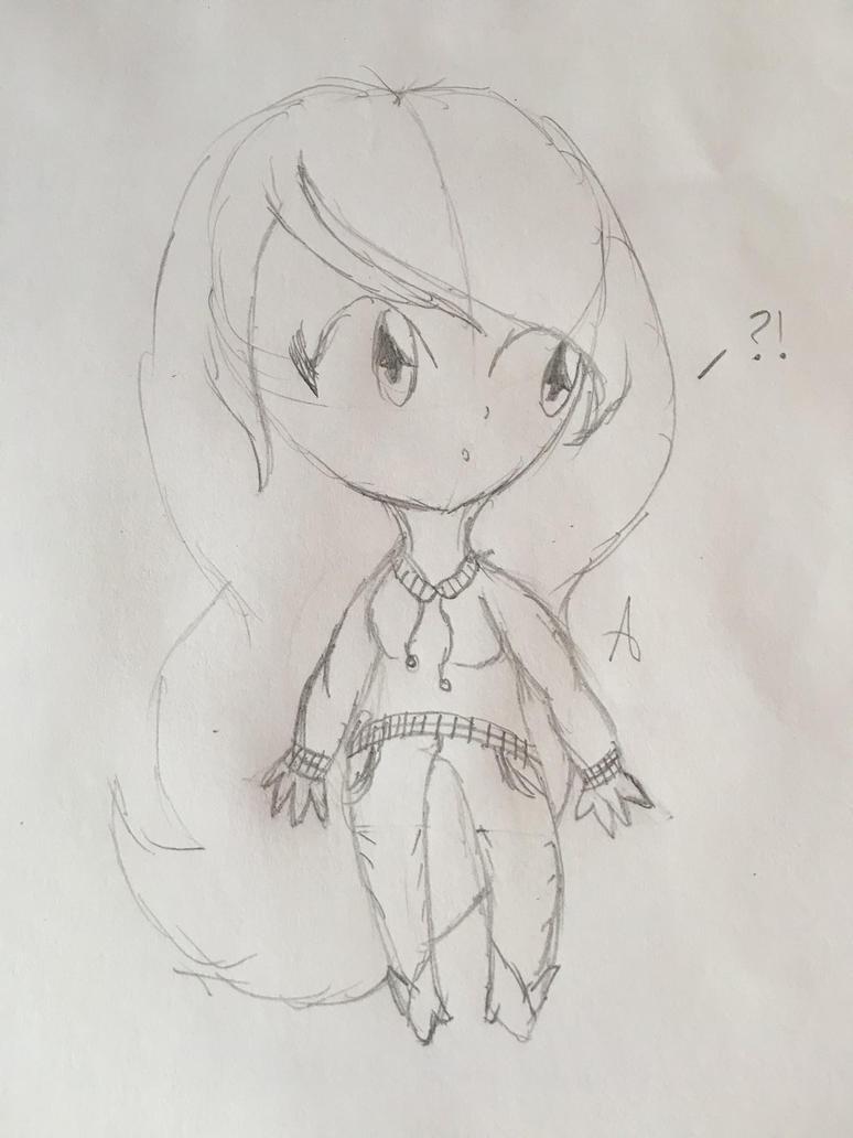Chibi girl by KickaVendingMachine