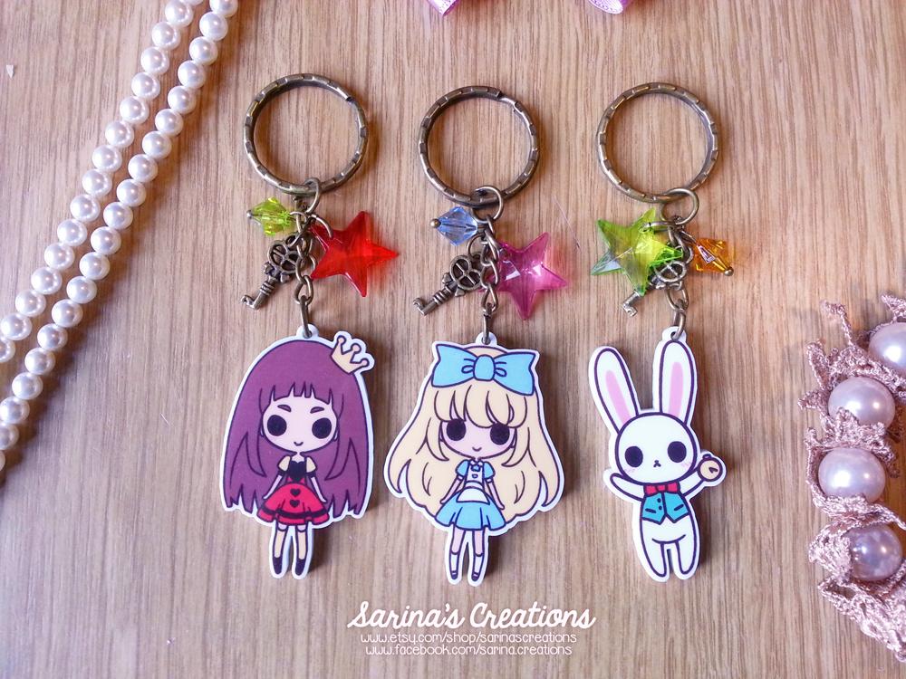 + Alice in Wonderland keychains + by SaraFabrizi