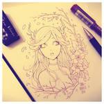+ Deer Girl [Lineart] +