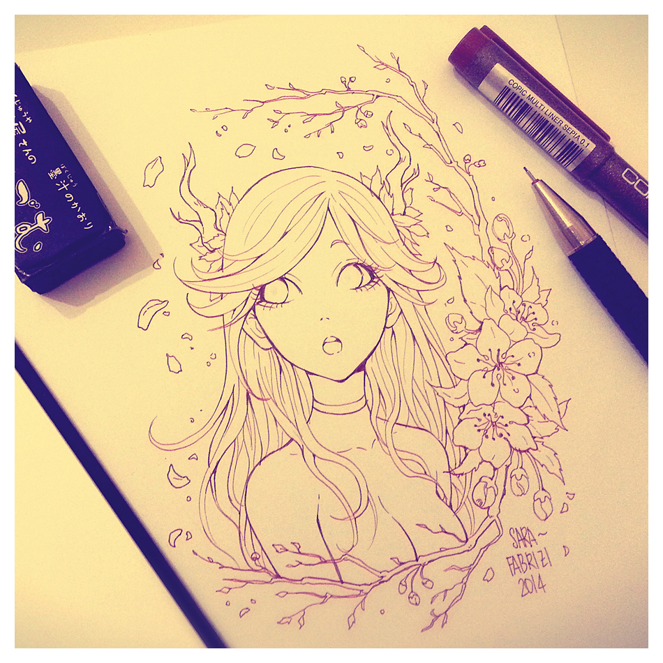 Putty Line Drawing Q : Deer girl lineart by sarafabrizi on deviantart