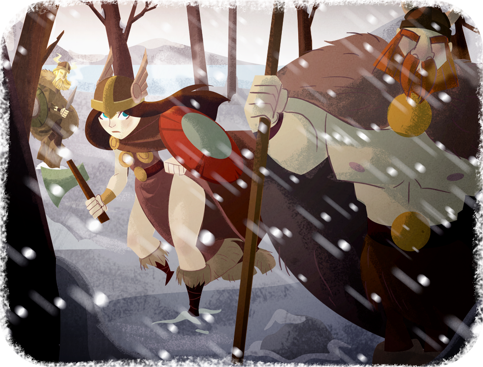 Viking Illustration by Diaff