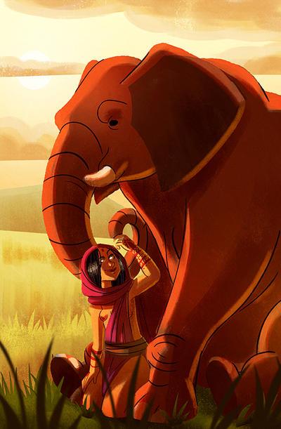 Wild Elephant by Diaff