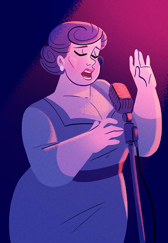 Ella Fitzgerald by Diaff