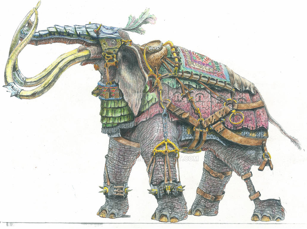 War Elephant by Rathsi