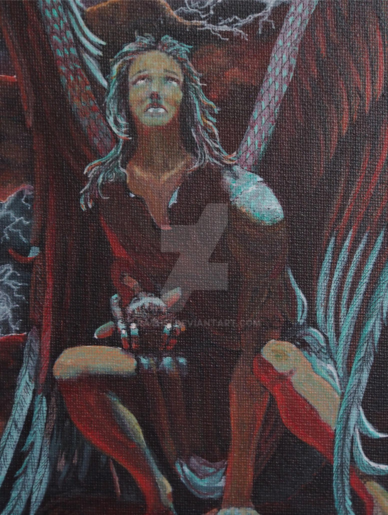 Defending Angel (detail) by Rathsi