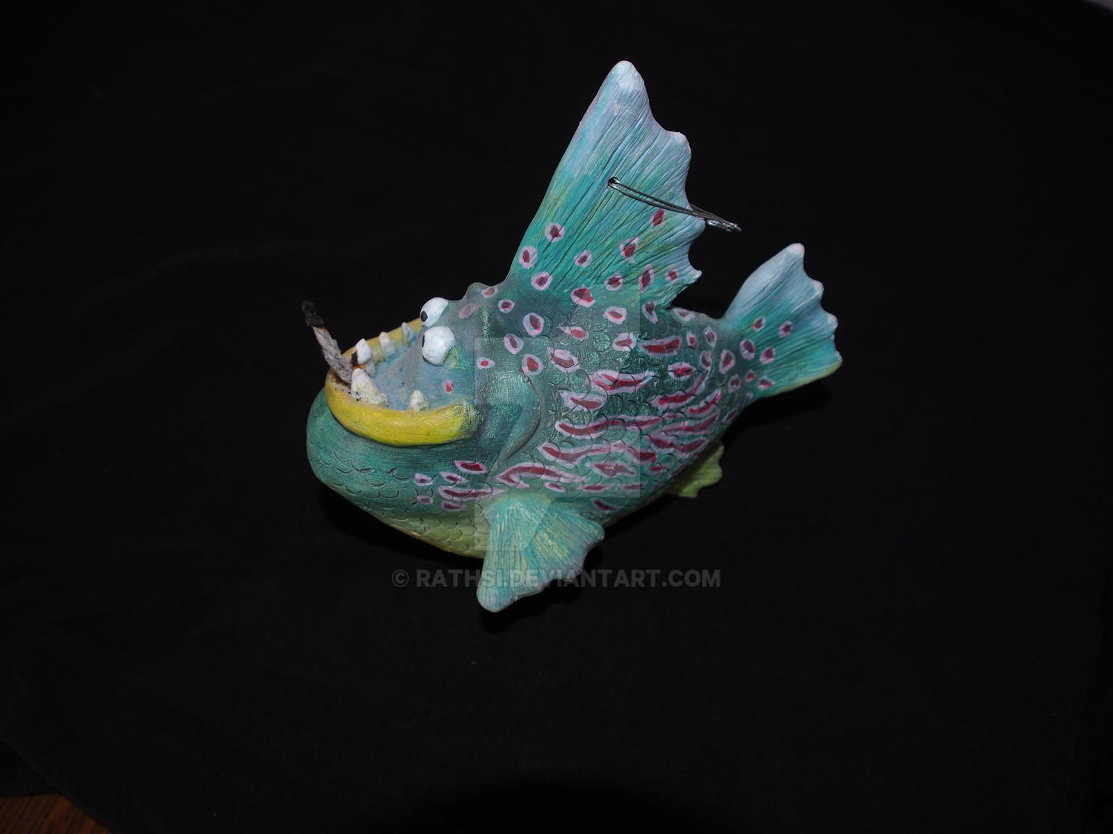 Blue Fish Oil Lamp by Rathsi