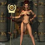 Crimson Elf by faegatekeeper