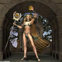 Golden Spell by faegatekeeper