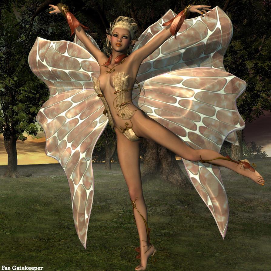 Golden Fairy for Wild Hunt by faegatekeeper