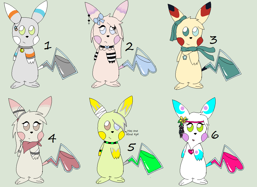 Glass Tail Pikachu Aoptables 1~Open! 1 Left! by ...