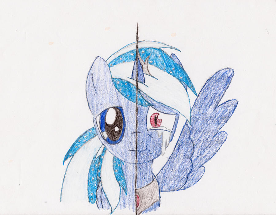 New Moon pony_two_sides by Anko-Midnight on DeviantArt