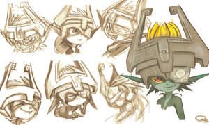 Midna sketches by TypicalGib