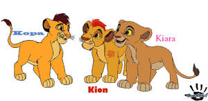 Kopa, Kiara and Kion