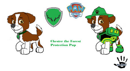 Paw Patrol Chester the Forest Protection Pup by PawPlionKing334