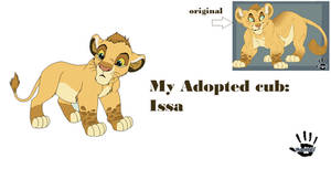 My new Adopted Lion King OC: Issa