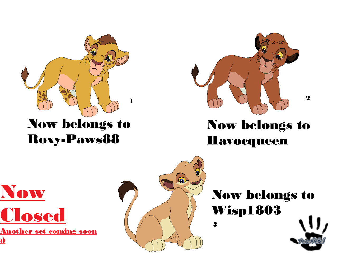 Free Adoptable Lion King OC's! (NOW CLOSED)