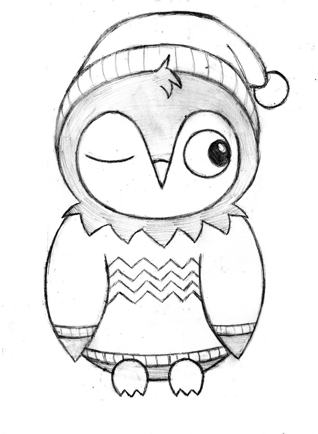 Little owl by ompm on deviantart for Owl drawing easy