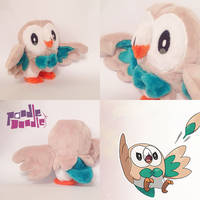 Pokemon Sun and Moon Rowlet Starter Plush by TheBeardedSewist
