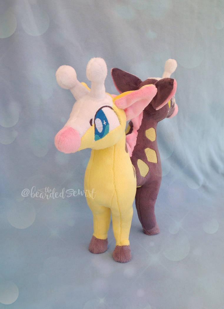 Beta Girafarig Plush Beta Pokemon Gold Silver by TheBeardedSewist