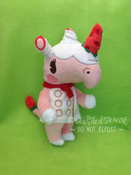 Animal Crossing New Leaf Merengue Plush by TheBeardedSewist
