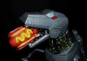 Grimlock with Hot Dog Botbot
