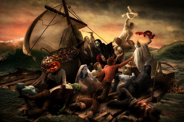 The Raft of Halloween by gyaban
