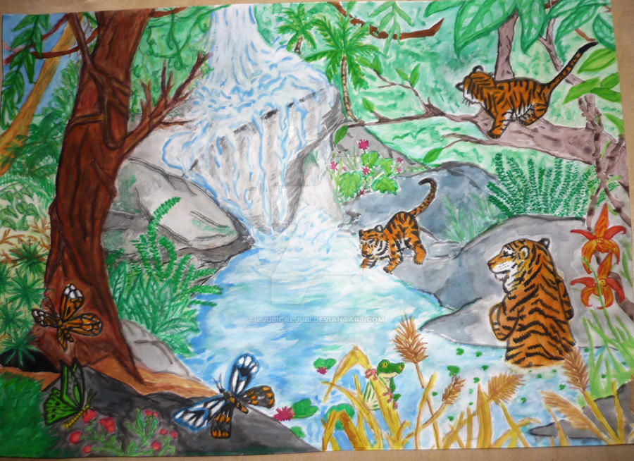 Tropical rainforest tiger and cubs by ljubicaljubi on ...
