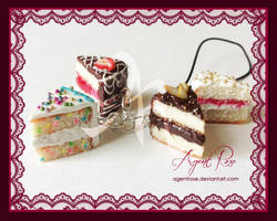 Polymer Clay White Cake Assortment